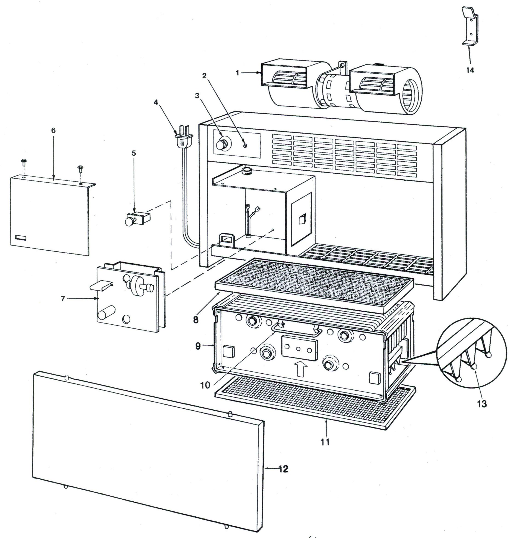 Electro Air 20X12A-41000 Air Cleaner Parts
