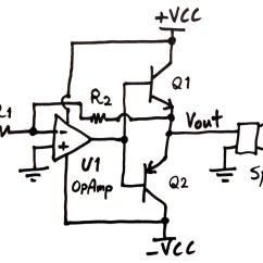 Wiring Diagram For Subs And Amp Signal Stat 900 6 Wire Making An Audio Power Amplifier Drive A Sub Woofer Electroboom Circuit