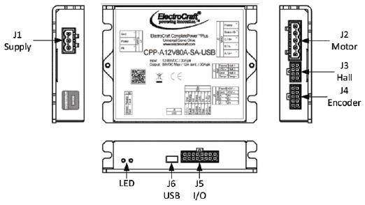 ElectroCraft : CPP-A12V80 Universal Servo Drive