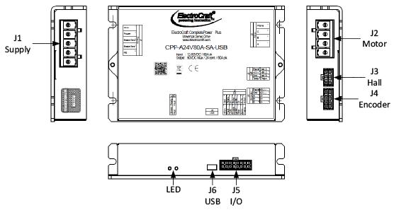 ElectroCraft : CPP-A24V80 Universal Servo Drive