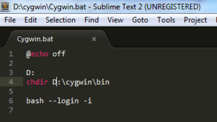 cygwin-directory