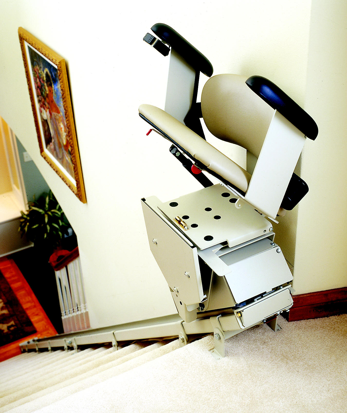 electric stair chair target cushions kitchens review lift stairlift sre 1550