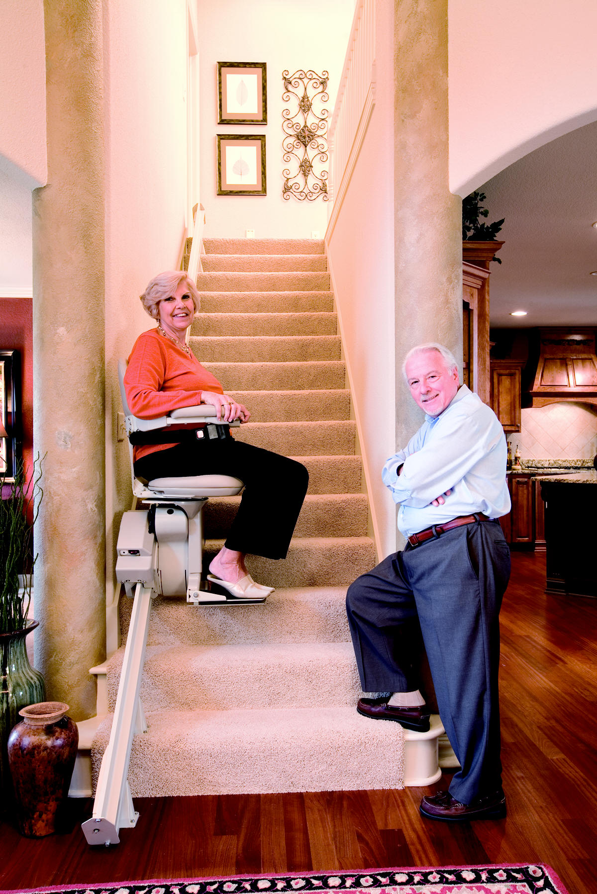 bruno chair lifts one kings lane dining chairs stairlifts straight stairway anaheim are