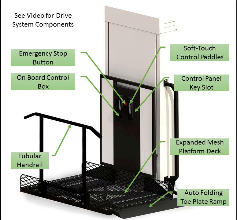 bruno lift chair parts alabama rocking vpl phoenix az authorized wheelchair elevator vertical platform porch dealer