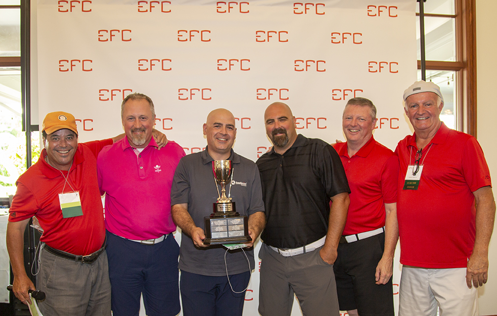 Group photo of 1st Place Low Gross Foursome – Barry McGowan's Memorial Cup