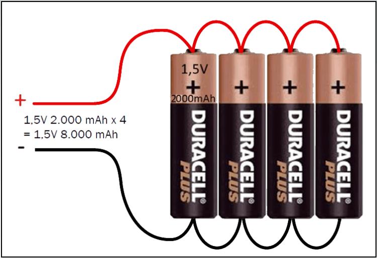baterias paralelo - Electrogeek