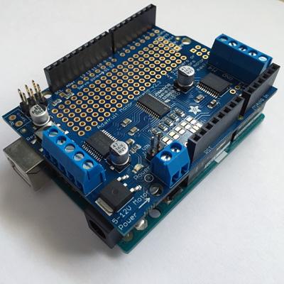 adafruit motor shield controlando motores con arduino 5c82b62aae085 - Electrogeek