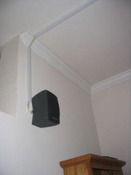 Rear speaker channel