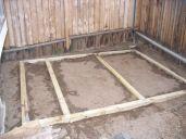 leveled foundation frame