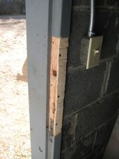 old wood doorjamb
