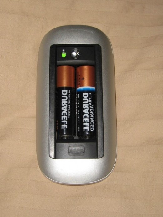 Notice that both batteries are aligned alike? Yeah, design prowess.