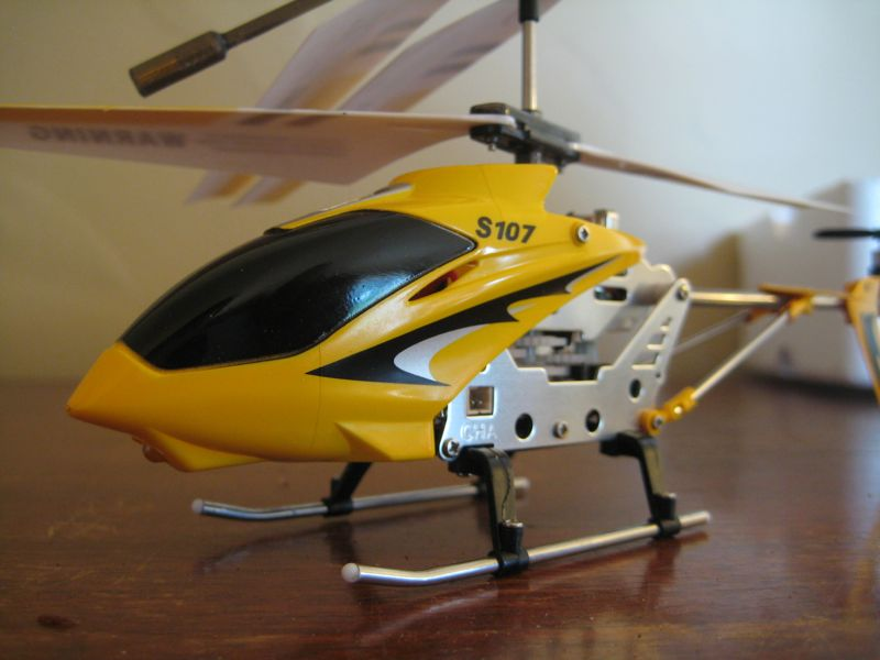 closeup of helicopter