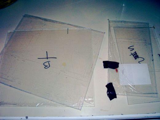 cabinet plexiglas parts cut