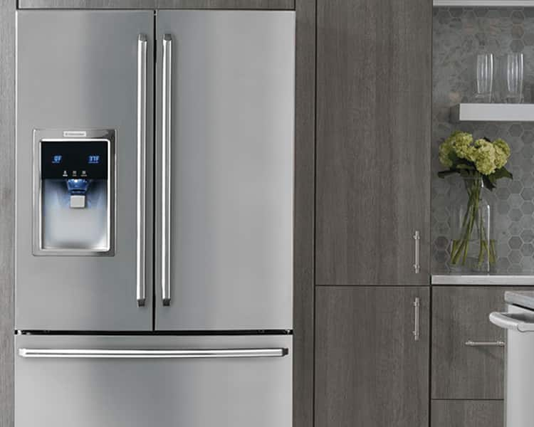 kitchen refrigerator copper aid mixer compare types sizes of electrolux view all french door refrigerators