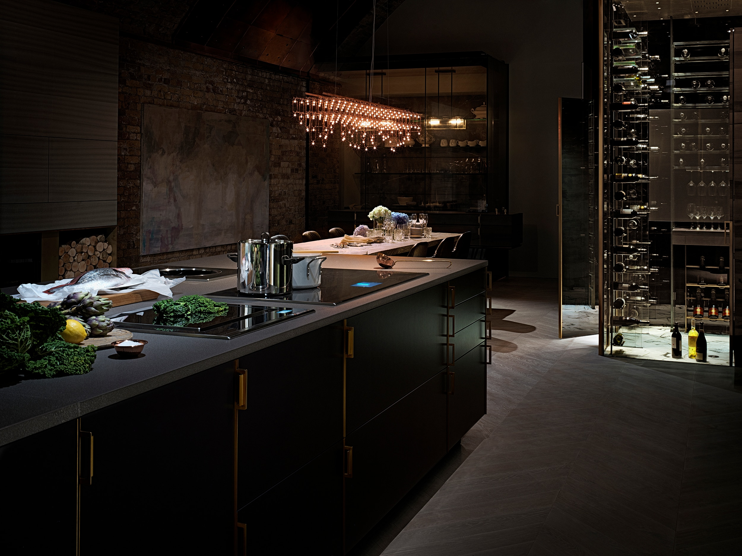 black kitchen countertops table with 8 chairs electrolux and poggenpohl introduce pioneering ...
