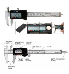 lcd electronic digital gauge stainless vernier caliper 150mm 6 inch micrometer  [ 1600 x 1600 Pixel ]