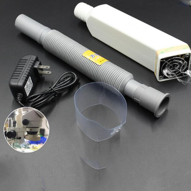 microscope exhaust fan smoke rosin soldering oil gas fume absorber fume extractor for mobile phone mortherboard repair
