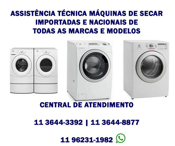 assistência técnica máquinas de secar importadas e nacionais