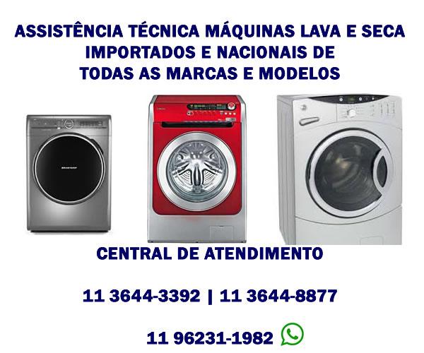 assistência técnica máquinas lava e seca importadas e nacionais