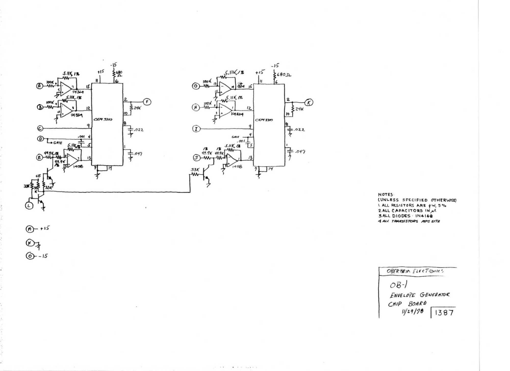 hight resolution of  schematic ob 1 envelope generator chip board