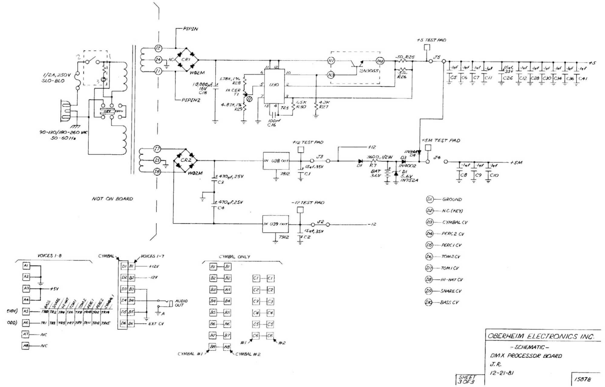 hight resolution of dmx processor board schematic 3 of 3