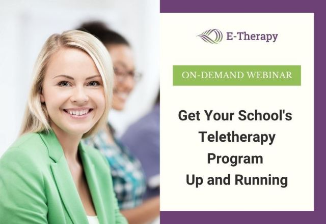 your school's teletherapy program