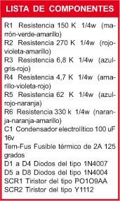 Cebador electrónico componentes