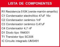 Circuito Musical Componentes