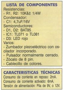 Detector de Metales Lista