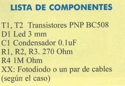 KIT 33 lista componentes