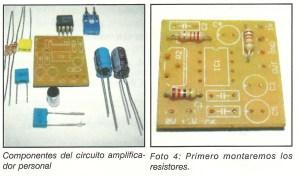 Amplificador componentes
