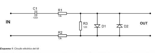 Esquema 1: Circuito eléctrico del kit