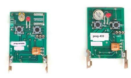 2 unidades //// Mando de puerta autocopiante 4 canales para del garaje - Reemplazo mando a distancia universal 433 mhz - Garaje mando a distancia universal 433.92 mhz
