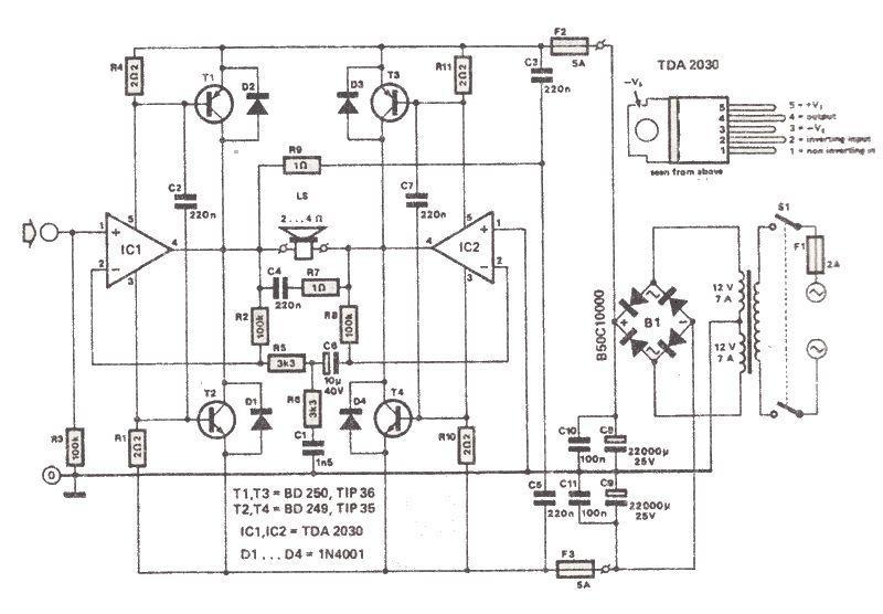 TDA2030 200 watt amp low cost audio power amplifier