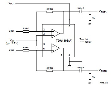 Stereo headphone amplifier circuit electronic project
