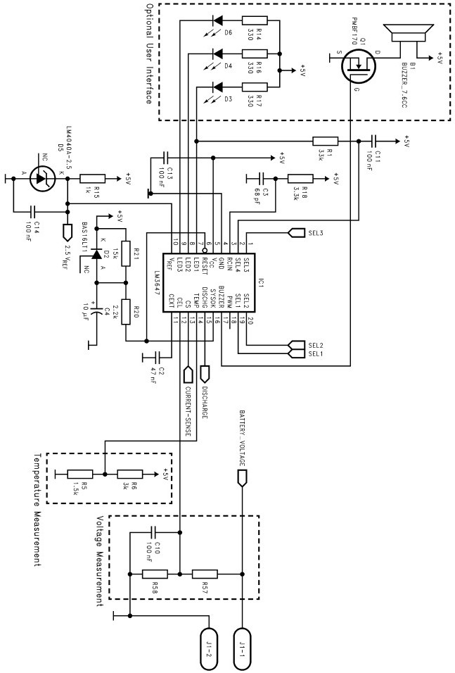LM3647 universal battery charger schematic circuit