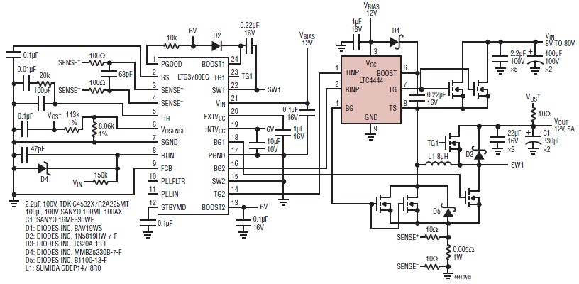 12 volt power supply using LTC4444