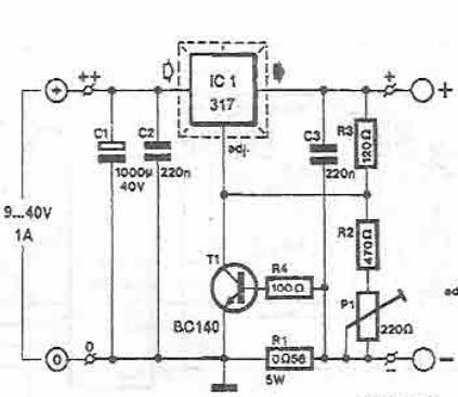 LM317 Lead acid batteries charger circuit design