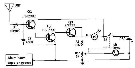 simple water level indicator using transistors