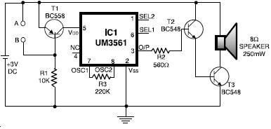 UM3561 alarm systems circuit design electronic project