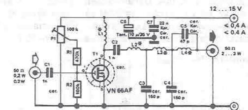 RF amplifier circuit for 10 meters electronic project