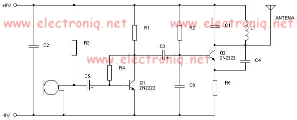 5 Wire Motor Diagram 2n2222 Fm Transmitter Electronic Project