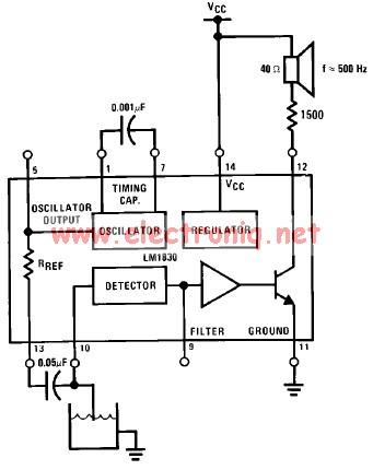 LM1830 low level detector schematic circuit design