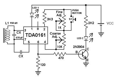 metal detector electronic circuit diagram