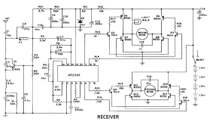 AF2310 radio controlled motor circuit design project
