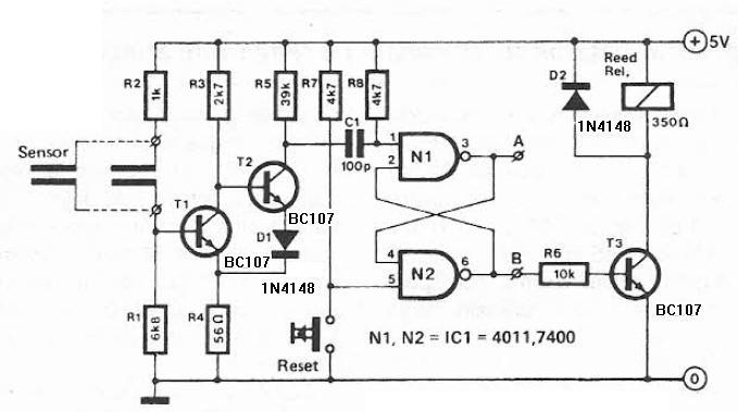 Humidity detector circuit electronic project