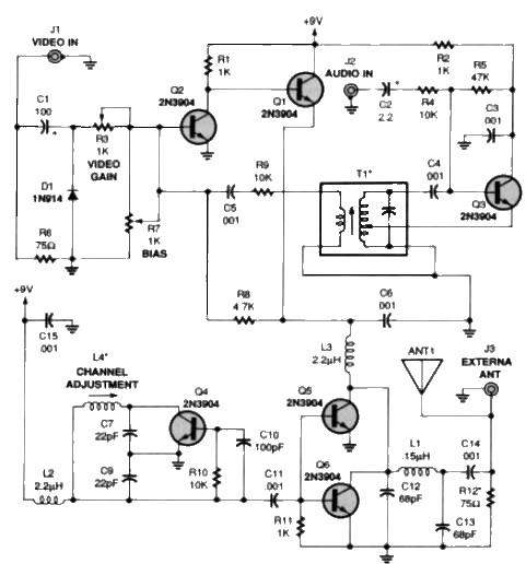 do it by self with wiring diagram: Av To Rf Converter