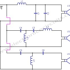 100w Subwoofer Amplifier Circuit Diagram 2000 Honda Civic Cooling System Crossover Network Electronic Circuits 3 Way