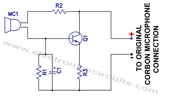 Carbon Mic Replacement To Magnetic Mike Converter Circuit