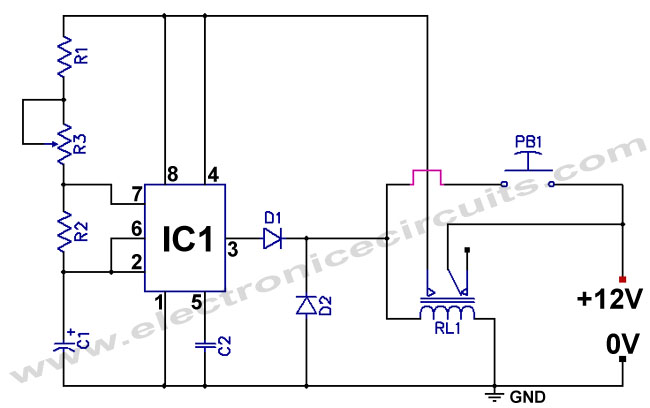 one hour timer circuit